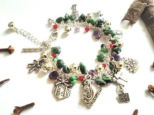 Christmas Eve Loaded Charm Bracelet