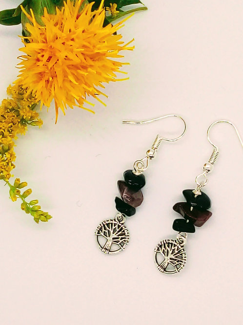 Grounding World Tree Earrings