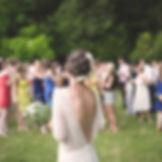 屋外の結婚式