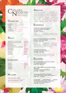 Claudia Nocente Design - CV no address