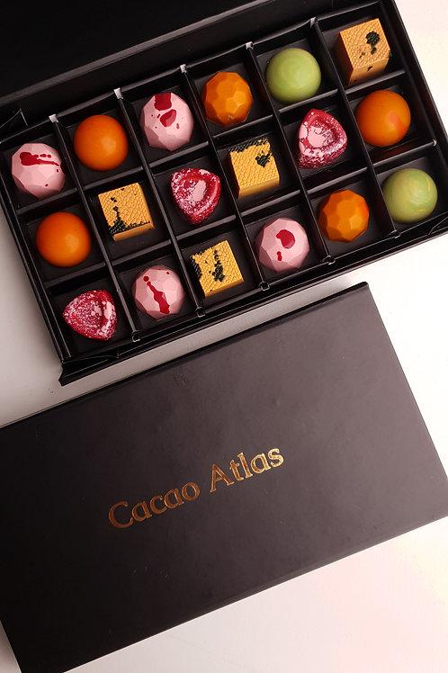 Classic non-alcoholic chocolates (box of 18)