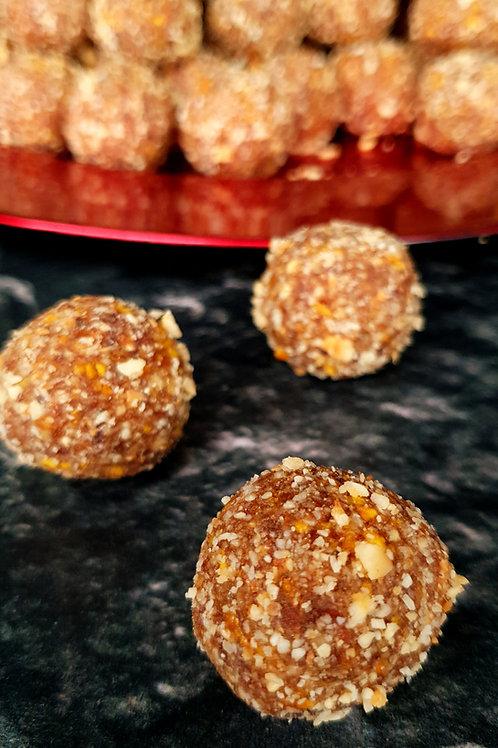 Raw Cacao Orange almond hazelnut power bite.