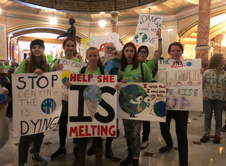 8th Graders Advocate at Illinois State Capitol