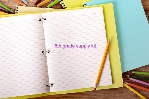 6th Grade School Supply Kit