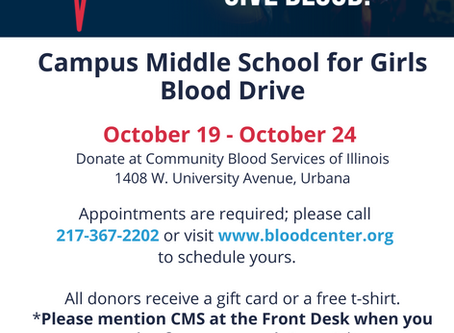 CMS Blood Drive October 19-24