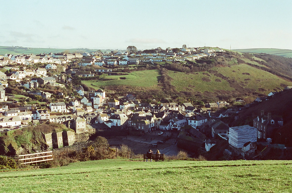 Hill top views in Port Isaac