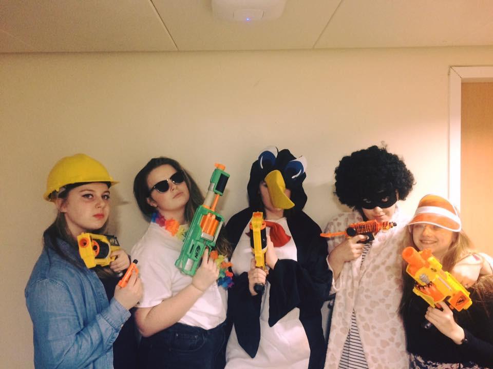 Nerf Gun war at University