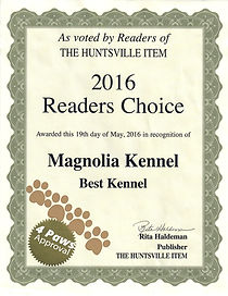 2016 Magnolia Kennel award