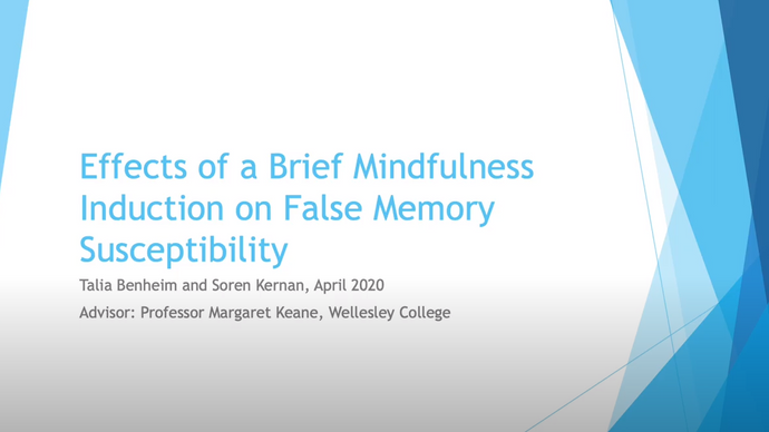 Effects of a Brief Mindfulness Induction on False Memory Susceptibility