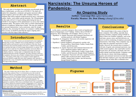 Narcissistic People: The Unsung Heroes of Pandemics