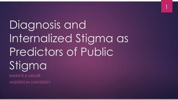 Diagnosis and Internalized Stigma as Predictors of Public Stigma