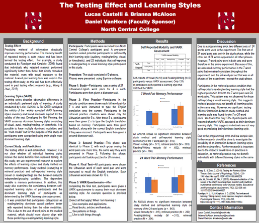 The Testing Effect and Learning Styles