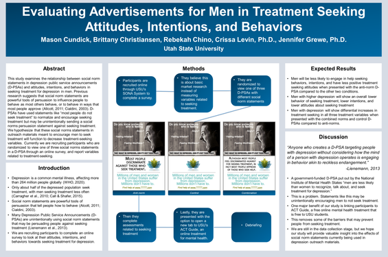 Evaluating Advertisements for Men in Treatment Seeking Attitudes, Intentions, and Behaviors