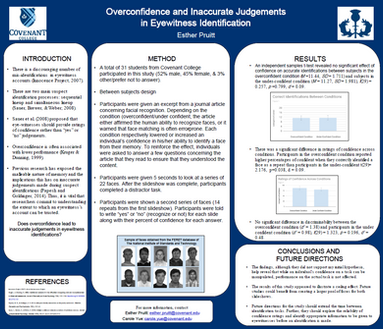 Overconfidence and Inaccurate Judgments in Eyewitness Identification