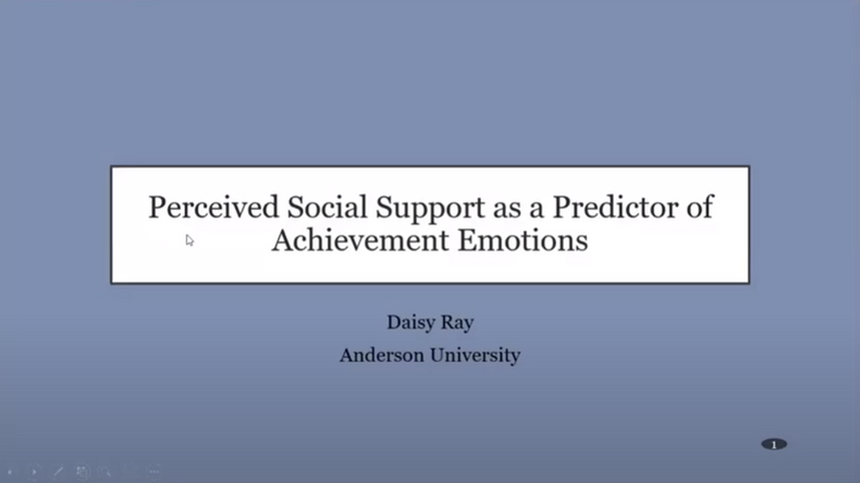 Perceived Social Support as a Predictor of Achievement Emotions