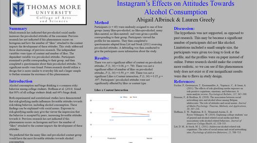 Instagram's Effects on Attitudes Towards Alcohol Consumption