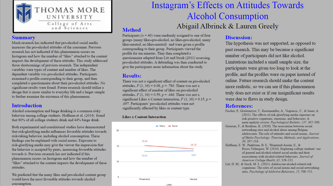 Instagram's Effects on Attitudes Towards Alcohol Consumption