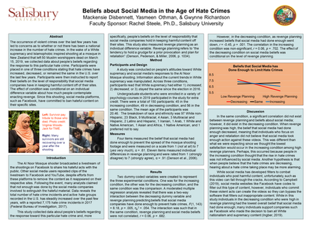 Beliefs about Social Media in the Age of Hate Crimes