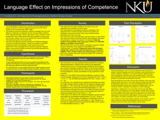 Language Effect on Impressions of Competence