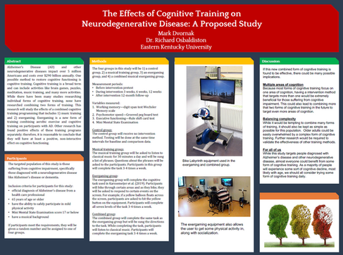 The Effects of Cognitive Training on Neurodegenerative Diseases: A Proposed Study