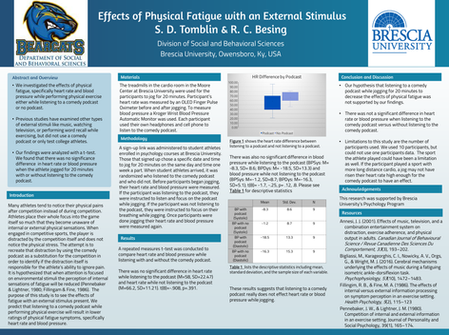 The effects of physical fatigue with an external stimulus