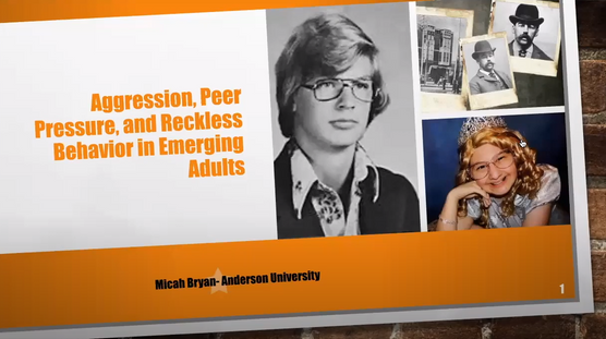 Aggression, Peer Pressure, and Reckless Behavior in Emerging Adults