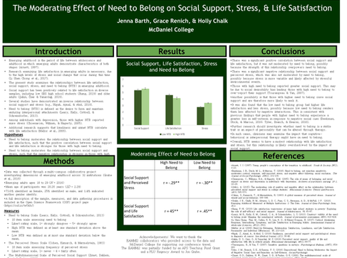 The Moderating Effect of NTB on Social Support, Stress, and Life Satisfaction