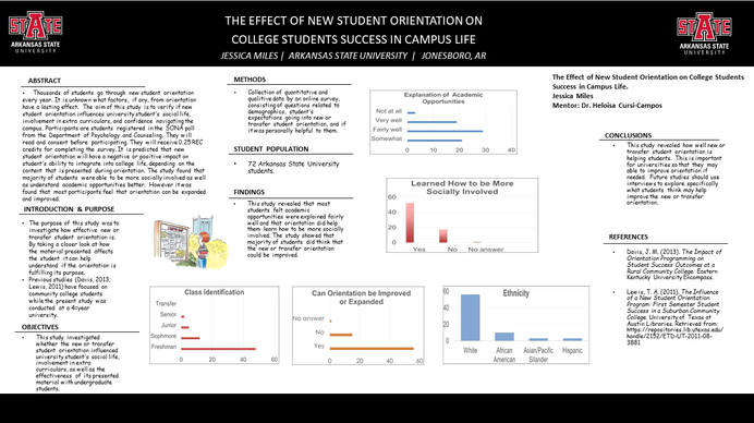The Effect of New Student Orientation on College Students Success in Campus Life