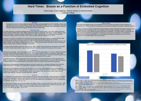 Hard Times: Biases as a Function of Embodied Cognition