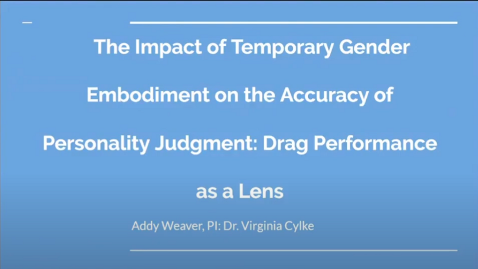 The Impact of Temporary Gender Embodiment on the Accuracy of Personality Judgment: Drag Performance as a Lens