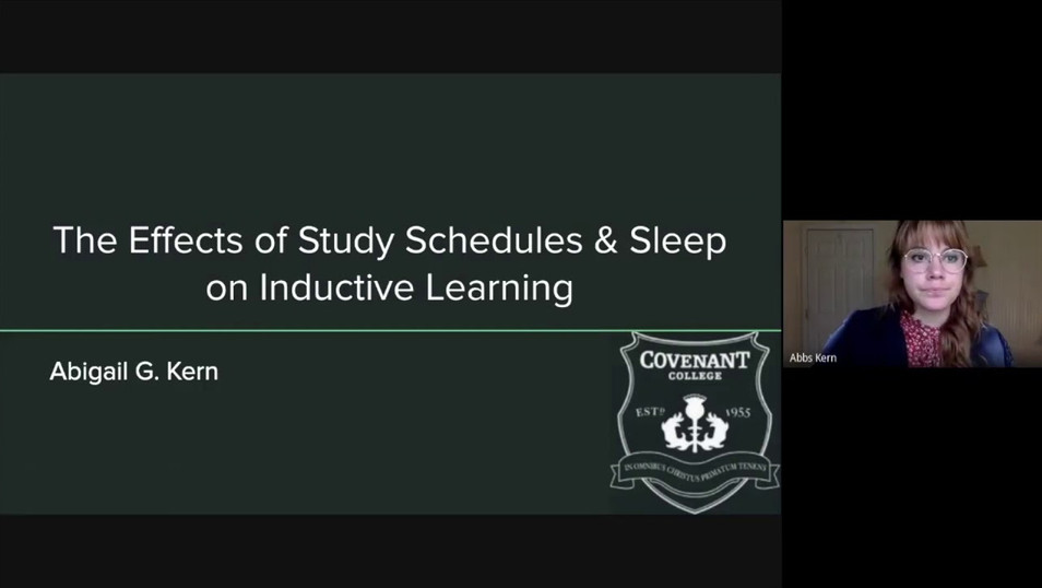 The Effects of Study Schedules and Sleep on Inductive Learning