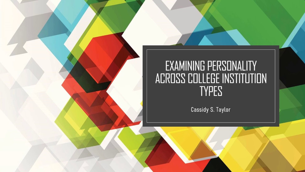 Examining Personality Across College Institution Types
