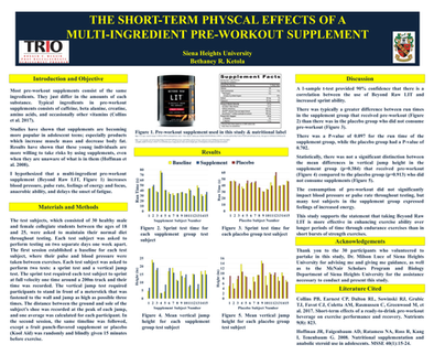 The Short-Term Physical Effects of a Multi-Ingredient Pre-Workout Supplement