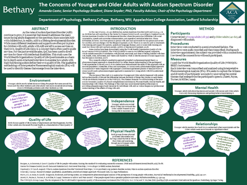 The Concerns of Younger and Older Adults with Autism Spectrum Disorder