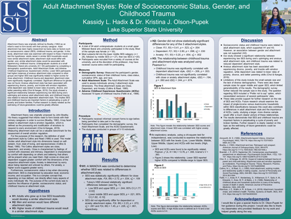 Adult Attachment Styles: Role of Socioeconomic Status, Gender, and Childhood Trauma
