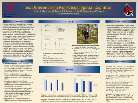 Sex Differences in Non-Visual Spatial Cognition