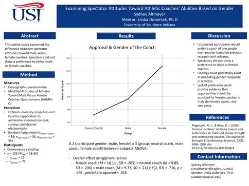 Examining Spectator Attitudes Toward Athletic Coaches' Abilities Based on Gender