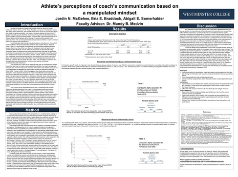 Athlete's perceptions of coach's communication based on manipulated mindset