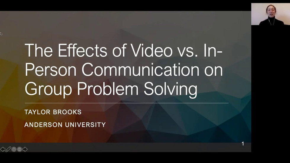 The Effects of Video vs. In-Person Communication on Group Problem Solving