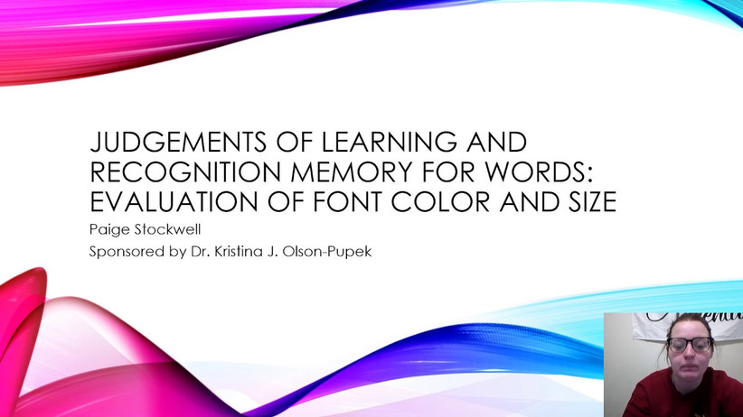 Judgements of Learning and Recognition Memory of Words: Evaluation of Font Color and Size
