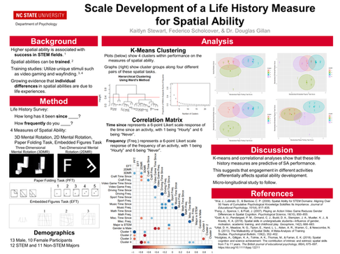 Scale Development of a Life History Measure for Spatial Ability