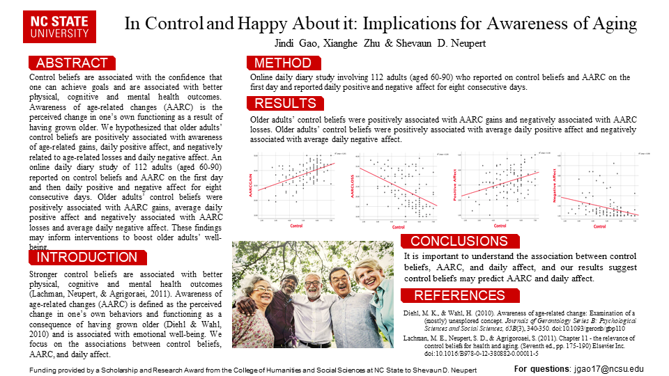 In Control and Happy About it: Implications for Awareness of Aging