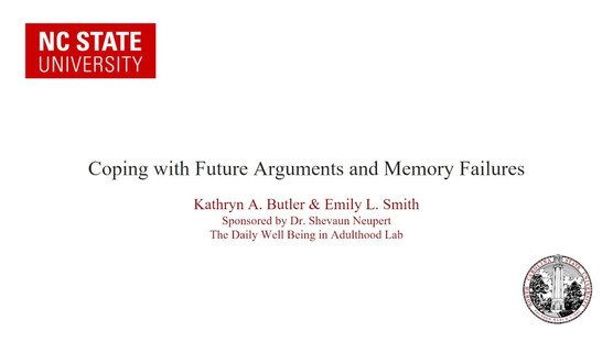 Coping with Future Arguments and Memory Failures