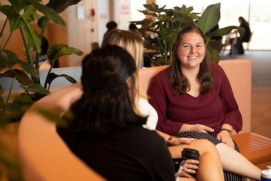 Image of students smiling at camera