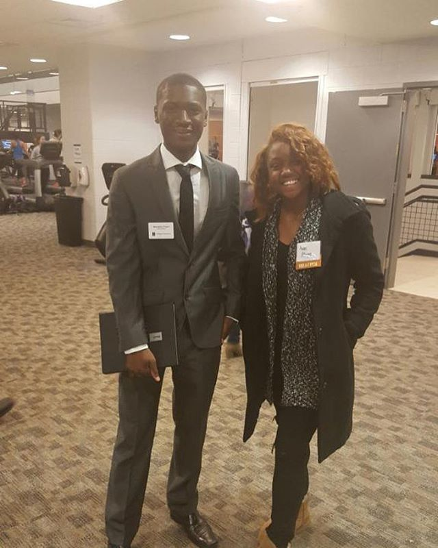 NABA in Action_ Two of our members at the College of Business Career Fair today making first and las