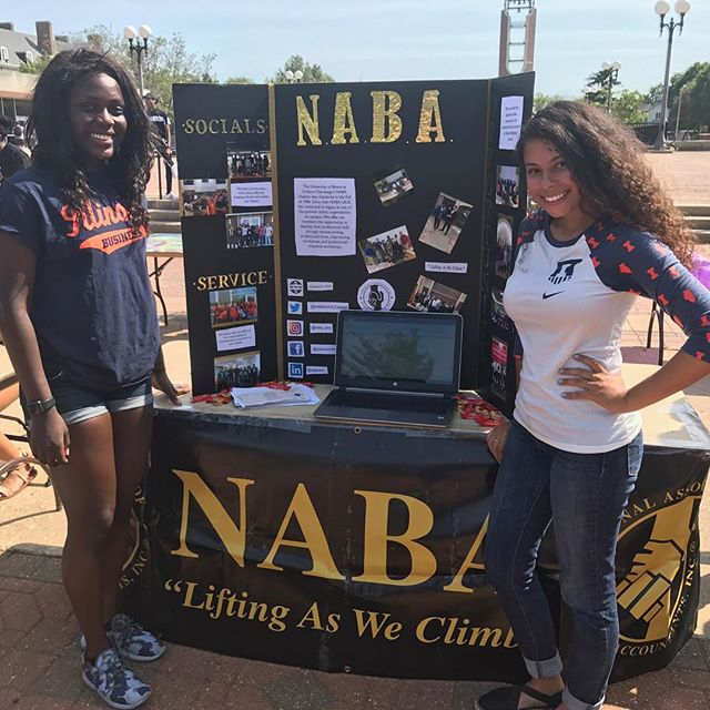 Marketing Co-Chair, Kaila Jones and Networking Chair, Hilda Onyango representing at BLACK O.U.T