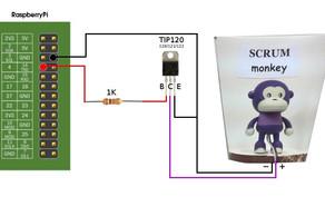 SCRUM monkey - TIP family transistor (Darlington)
