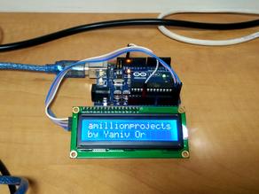 חיבור מסך LCD 16x2 עם מודול i2c לארדואינו