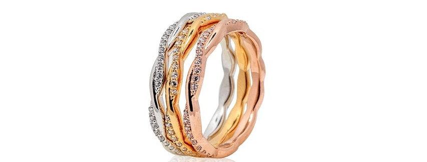 Trio de anillos en oro