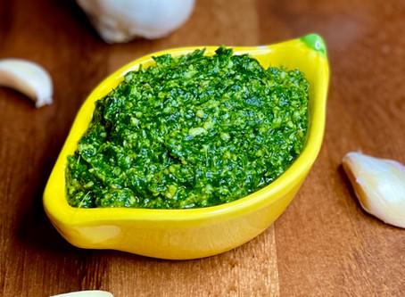 Recipe: Pea Shoot Lemon Pesto